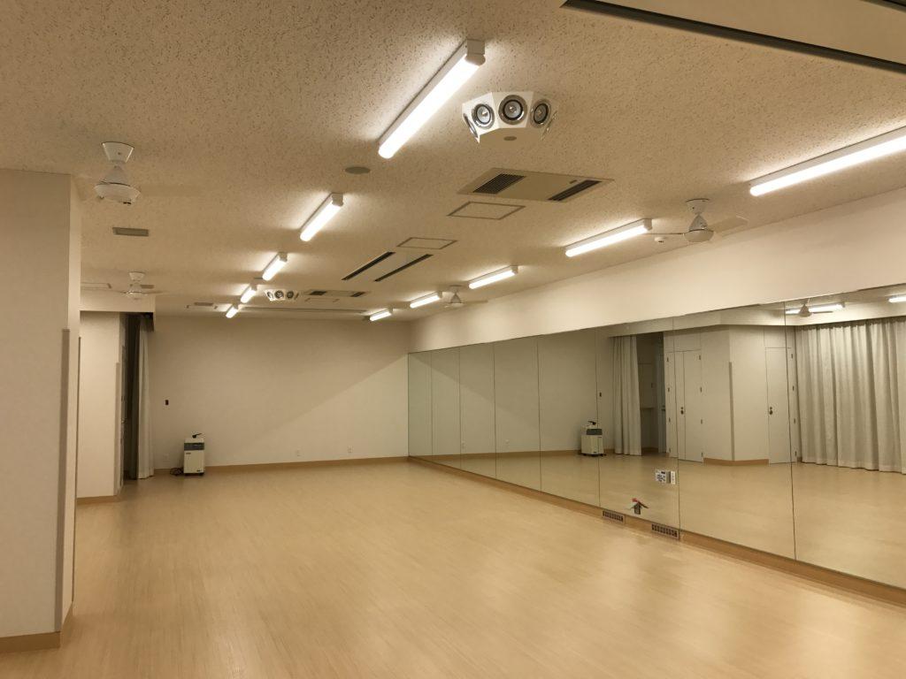 ホットヨガスタジオ内観