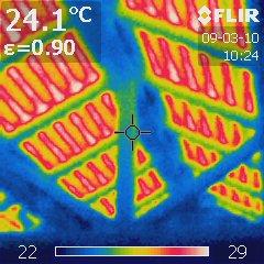 暖房時天井熱画像